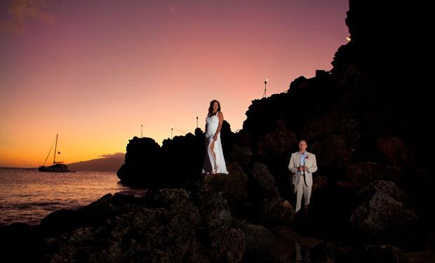 Sheraton Maui wedding at Black Rock by Ohana Photographers