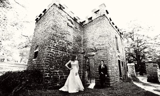 wedding photos at the sunken garden in rochester new york