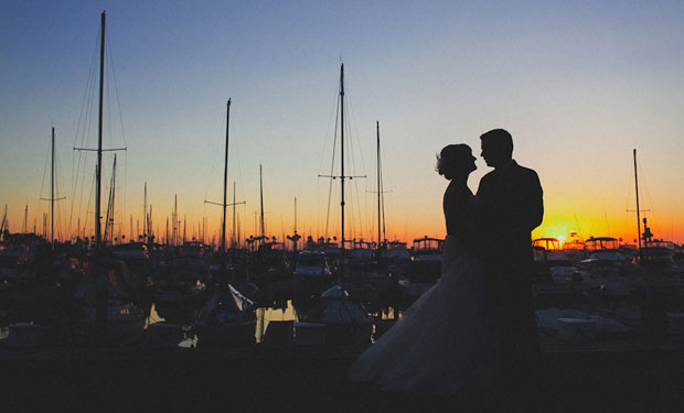 Jillian and James Harrington wedding in San Diego at Marina Village by Ohana Photographers