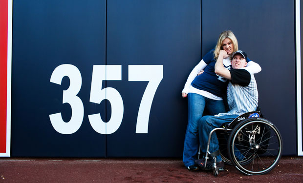 Petco Park engagement session in San Diego by Ohana Photographers