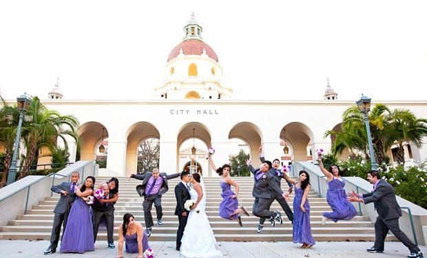 Pasadena wedding at Pandora on green by Ohana Photographers