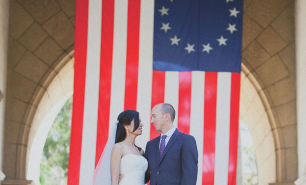 destination wedding in the Santa Barbara Courthouse Mural Room by Ohana Photographers