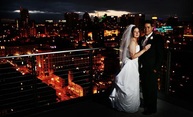 Ultimate Skybox wedding in San Diego